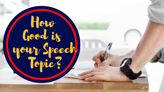 good easy speech topics