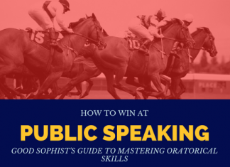 How to win at public speaking: Good Sophists guide to mastering practice for oratorical skills