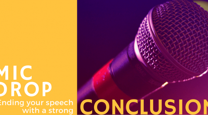 Mic Drop. How to write your speech conclusion