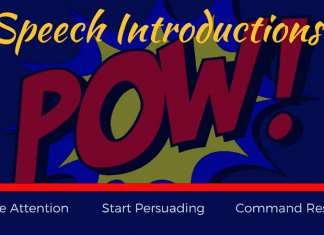 Speech Introduction: create attention, start persuading, command respect